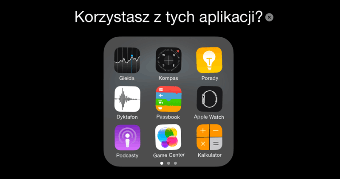 Preinstalowane aplikacje mobilne w systemie iOS