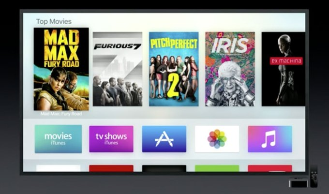 Apple TV - tvOS screen