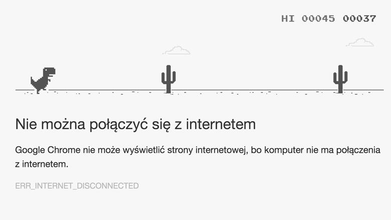 Ukryta gra w przeglądarce Chrome w trybie offline