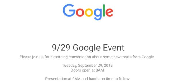 Google Event odbędzie się 29 września
