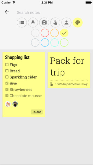 Google Keep na iOS-a