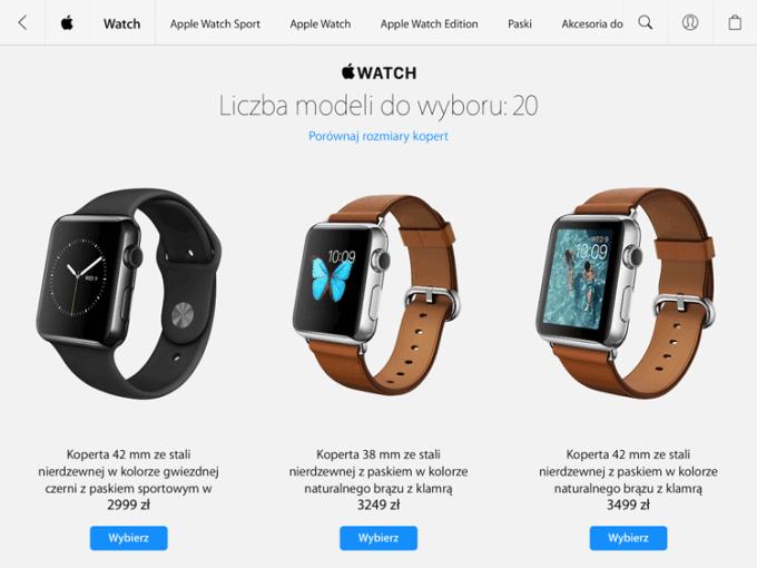 Cena klasycznego Apple Watcha w Polsce