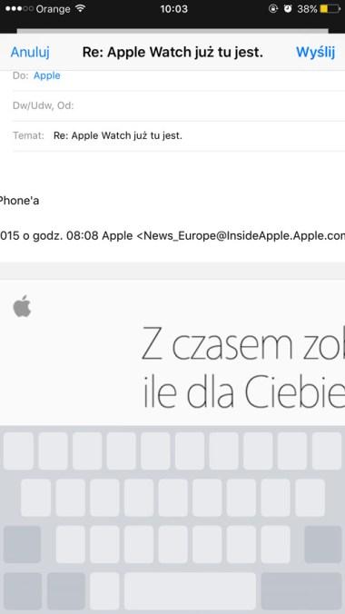Zamiana klawiatury w gładzik 3D Touch (iPhone 6s)