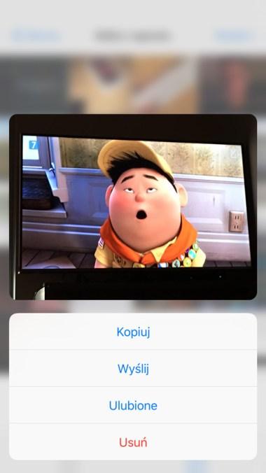 Opcja Podglądu 3D Touch w aplikacji Zdjęcia iPhone 6s Plus