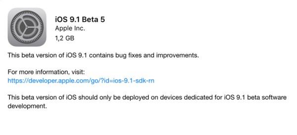 Już za tydzień finalna wersja systemu iOS 9.1?