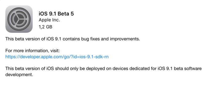 iOS 9.1 Beta 5