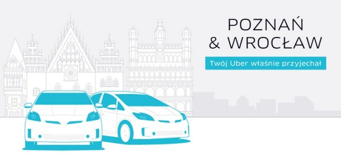 Uber startuje w Poznaniu i Wrocławiu