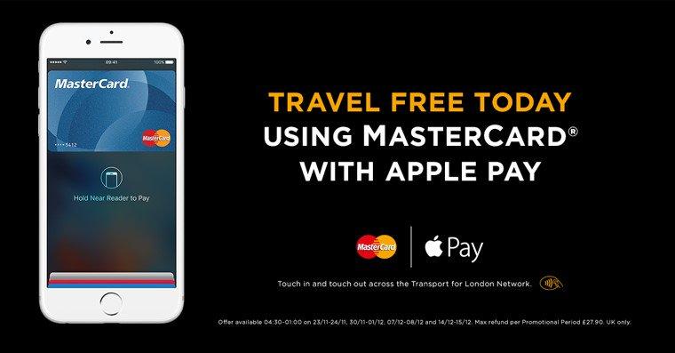 Fare Free Mondays - promocja Mastercard dla użytkowników Apple Pay w Londynie