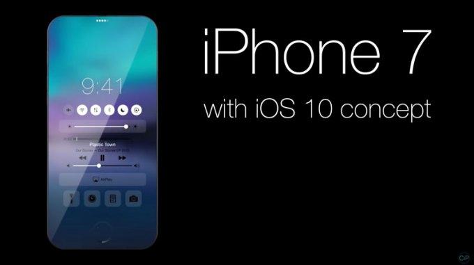 Koncepcja iPhone'a 7 z działającym systemem iOS 10