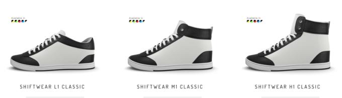 Dostepne modele butów ShiftWear (L1, M1, H1)