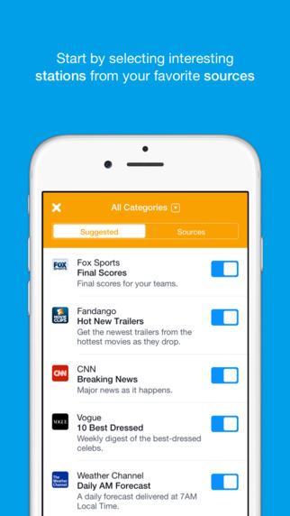 Aplikacja Notify od Facebooka (screen)