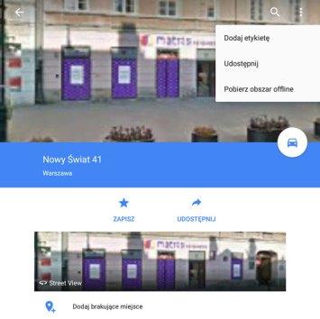 Pobieranie Map Google'a do trybu offline