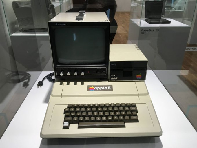 Computer Apple II w Apple Museum w Pradze