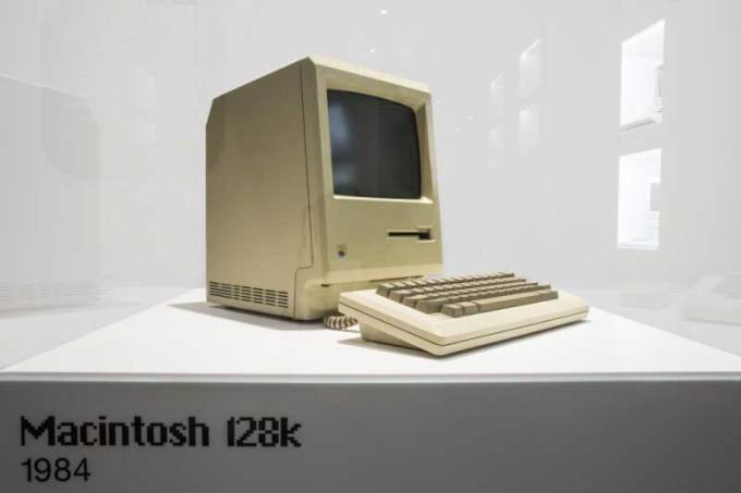 Apple Mac z 1984 roku w Apple Museum