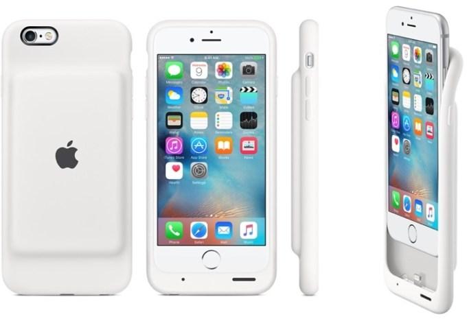 Etui Apple Smart Battery Case białe na iPhone'a 6 i 6s