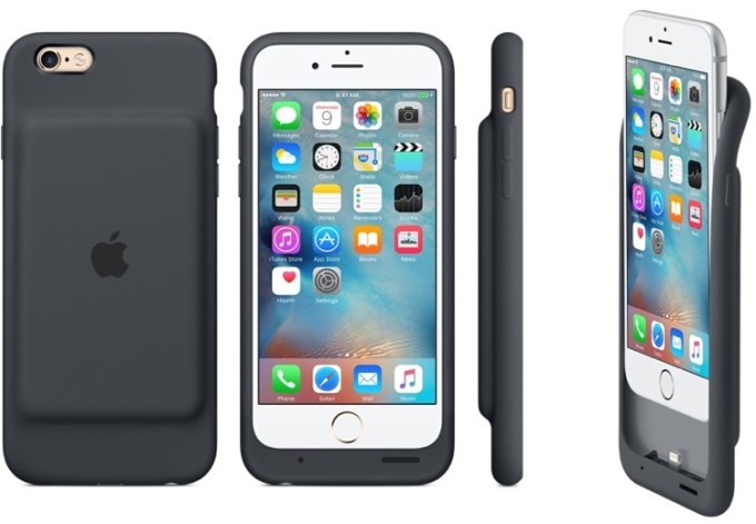 Etui Apple Smart Battery Case grafitowe na iPhone'a 6 i 6s