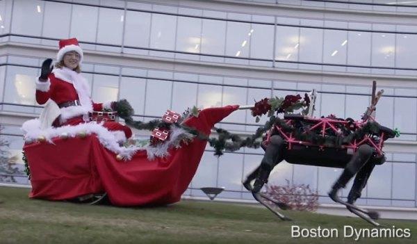 Epickie życzenia świąteczne od Google Boston Dynamic