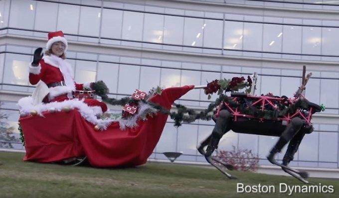 Epickie zyczenia świąteczne od Boston Dynamic