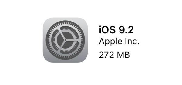 iOS 9.2 gotowy do pobrania