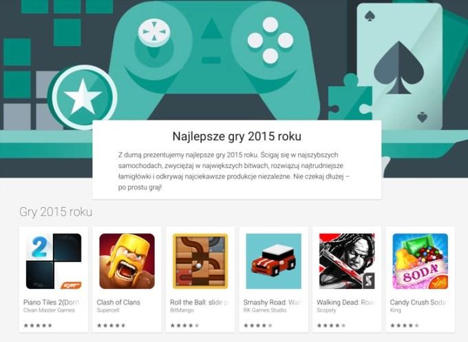 Najlepsze gry mobilne 2015 r. Google Play