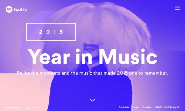 Muzyczny rok 2015 w Spotify