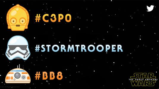 Star Wars emoji na Twitterze