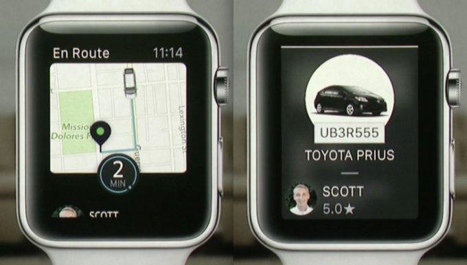 Aplikacja Uber na Apple Watcha