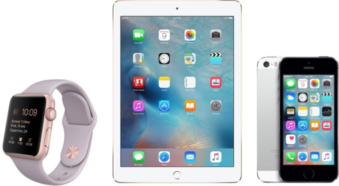 Apple Watch, iPad, iPhone