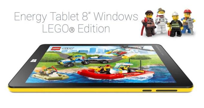 """Energy Tablet 8"""" Windows 10 LEGO Edition"""