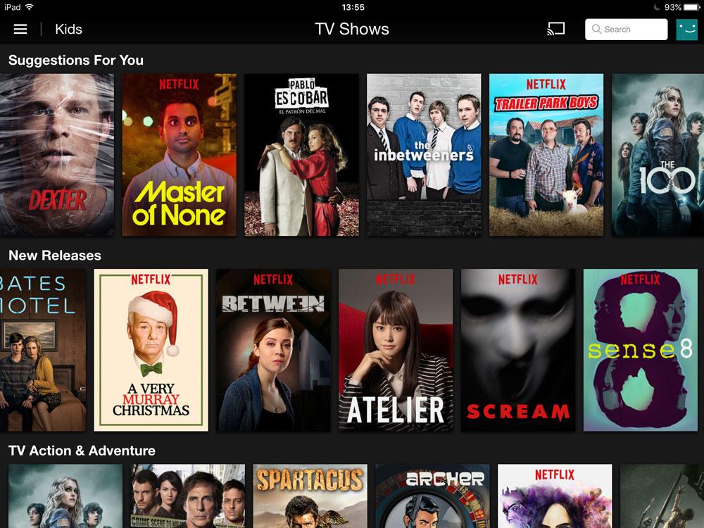 Aplikacja Netflix (screen)