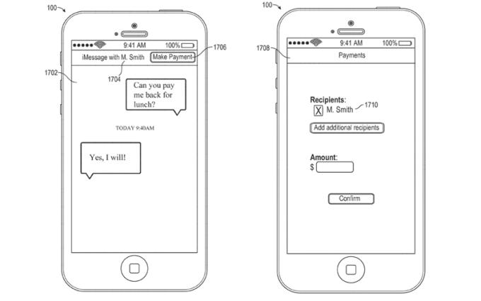 Płatności mobilne Apple przez wiadomość tekstową iMessage.
