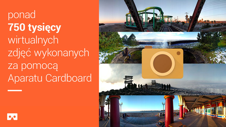 Ponad 750 tys. zdjęć wykonanych aparatem Cardboard