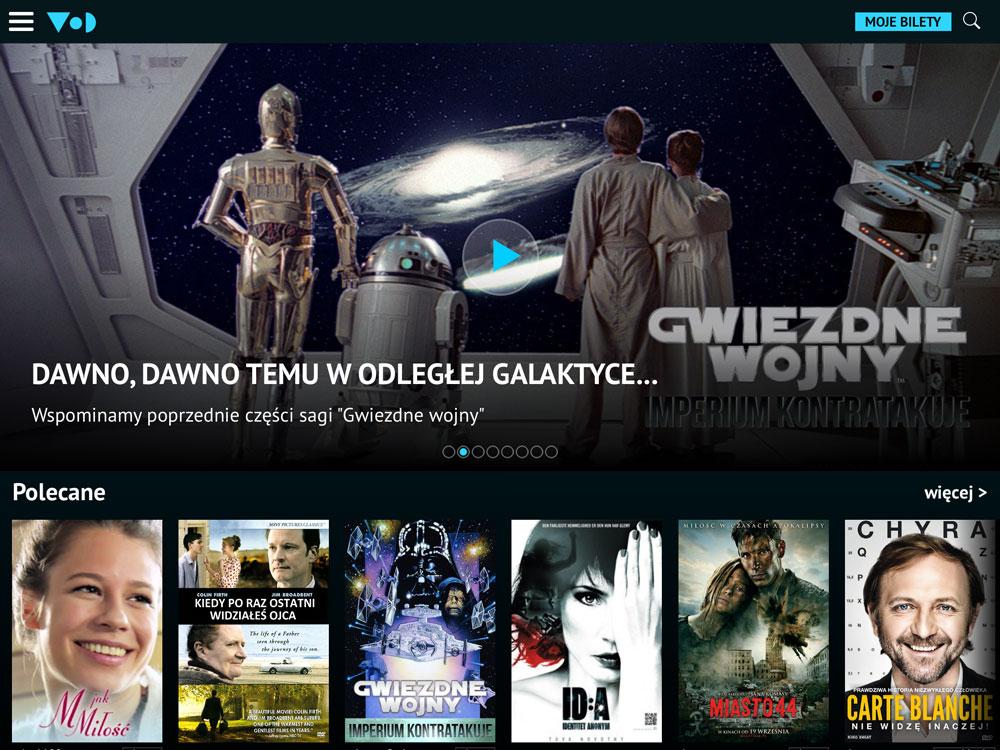 VoD Onet - screen aplikacji mobilnej