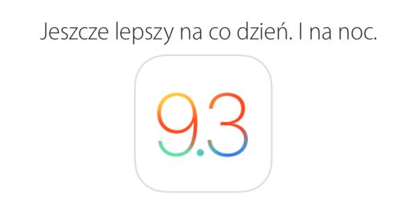 iOS 9.3 w trybie OTA do pobrania