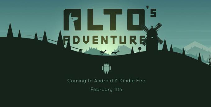 Gra Alto's Adventure za darmo na Androida i Kindle Fire już 11 lutego 2016 r.