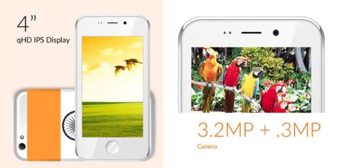 Specyfikacja techniczna smartfona Freedom 251 (wyświetlacz, aparat)