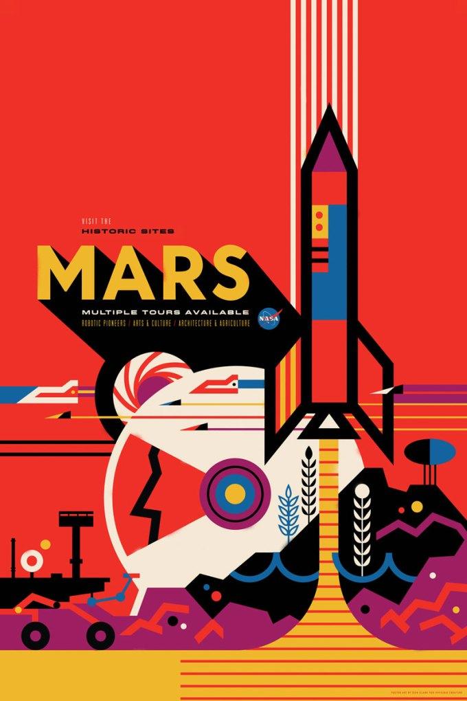 Mars - plakat NASA