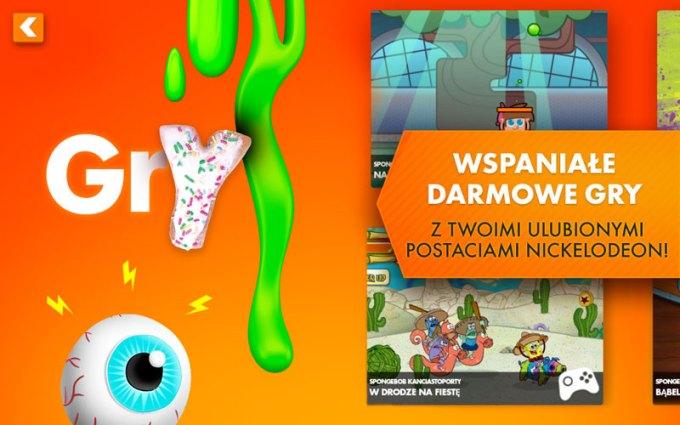 Aplikacja mobilna Nickelodeon Play dla dzieci