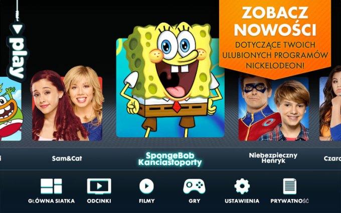 Bajki i gry w aplikacji mobilnej Nickelodeon Play dla dzieci