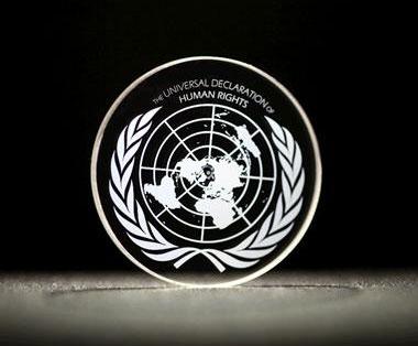 Powszechna Deklaracja Praw Człowieka zapisana na dysku 5D