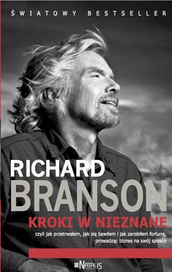Richard Branson - Kroki w nieznane - okładka książki