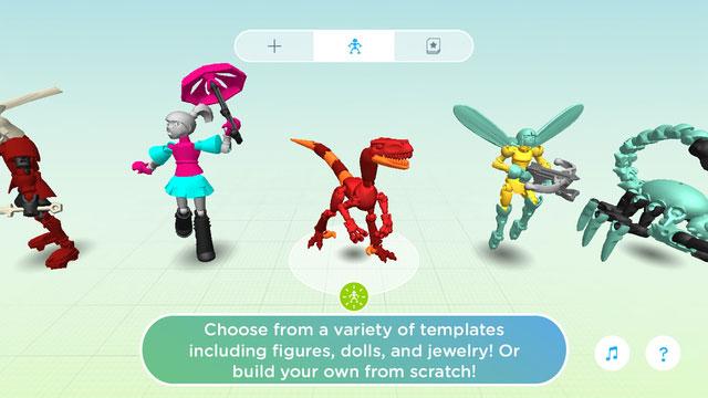 Aplikacja mobilna ThingMaker Design - screen