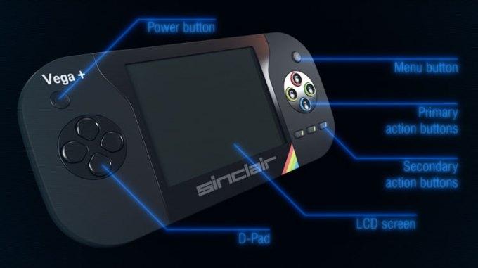 Funkcje konsoli przenośnej Sinclair ZX Spectrum Vega+