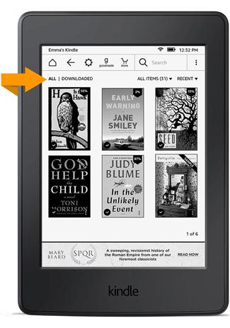 Szybki dostęp do pobranych książek (Kindle 5.7.2)