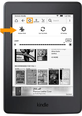 Szybki dostę do ustawień Kindle z ekranu głównego (Kindle 5.7.2)