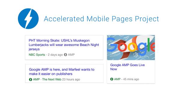 Strony AMP w wynikach wyszukiwania Google'a