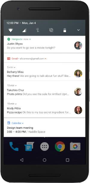 Android N 7.0 - bezpośrednie odpowiedzi w powiadomieniach