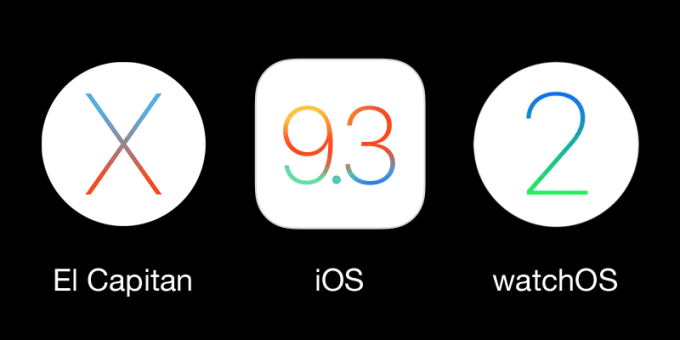 Apple OS X El Capitan, iOS 9.3, watchOS
