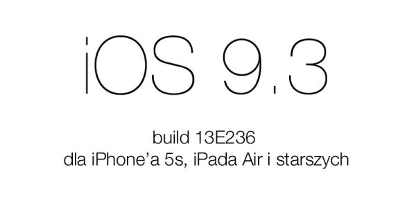 Jak naprawić problem z aktualizacją do iOS 9.3?