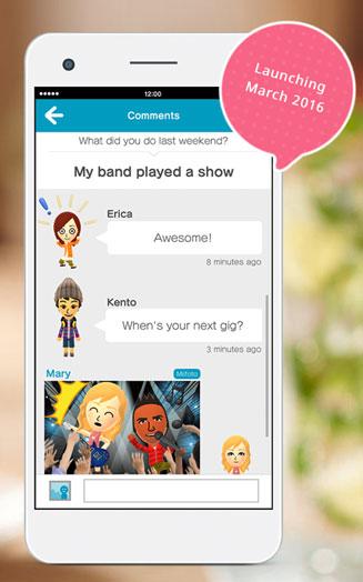 Screen aplikacji Miitomo